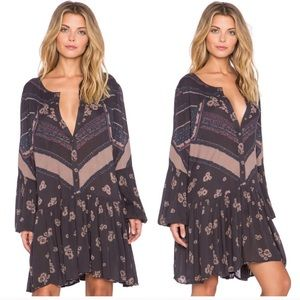 Free People From Your Heart Printed Boho Dress M